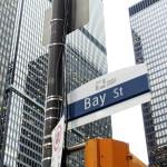 Street sign at Bay and King